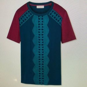 Tory Burch Oceano Harper Tunic Top like new